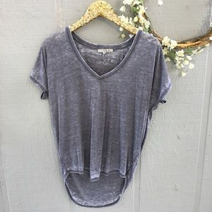 Express One Eleven high low burnout tee. Size XS.